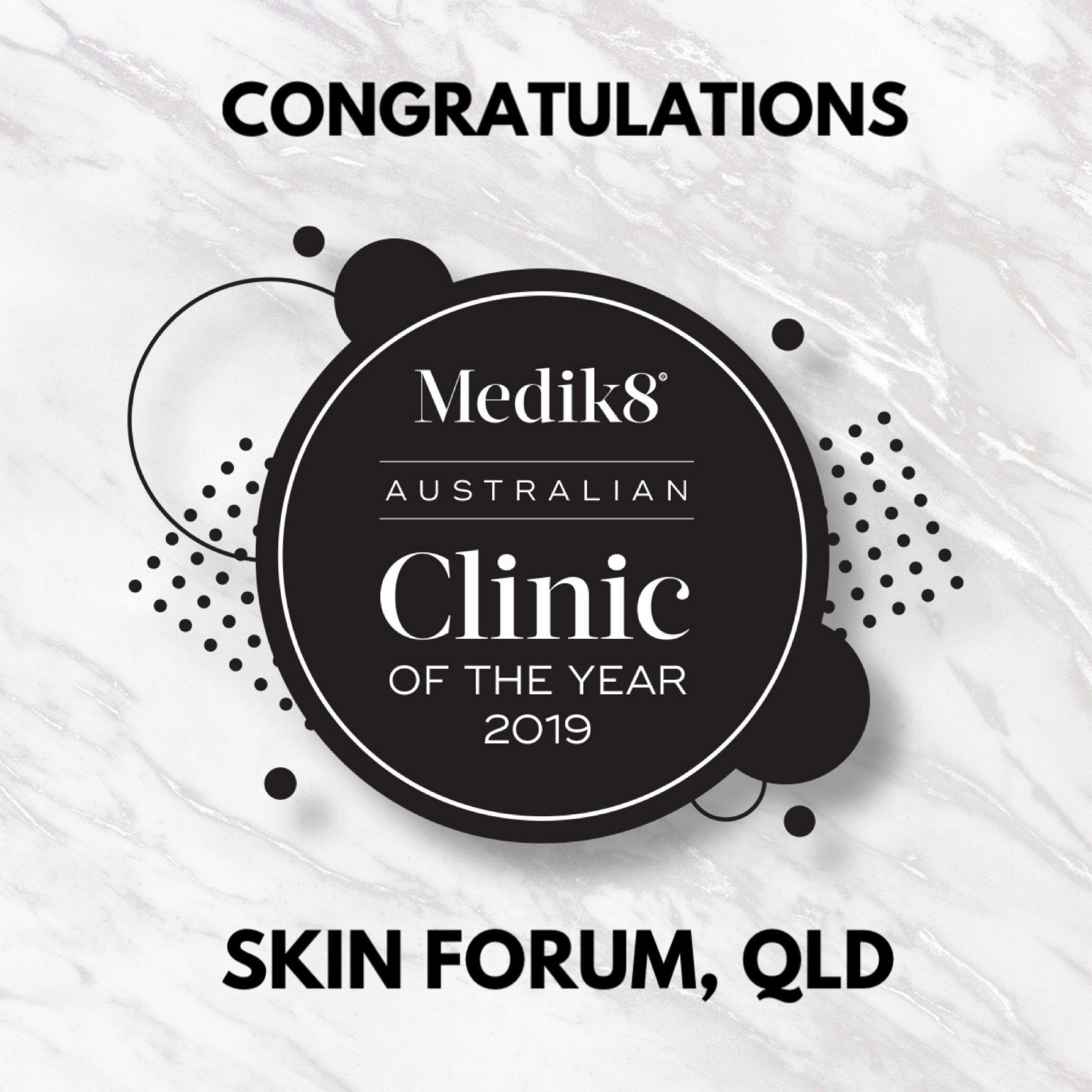 A big congratulations to all the Medik8 Clinic of the Year 2019 winners with the...