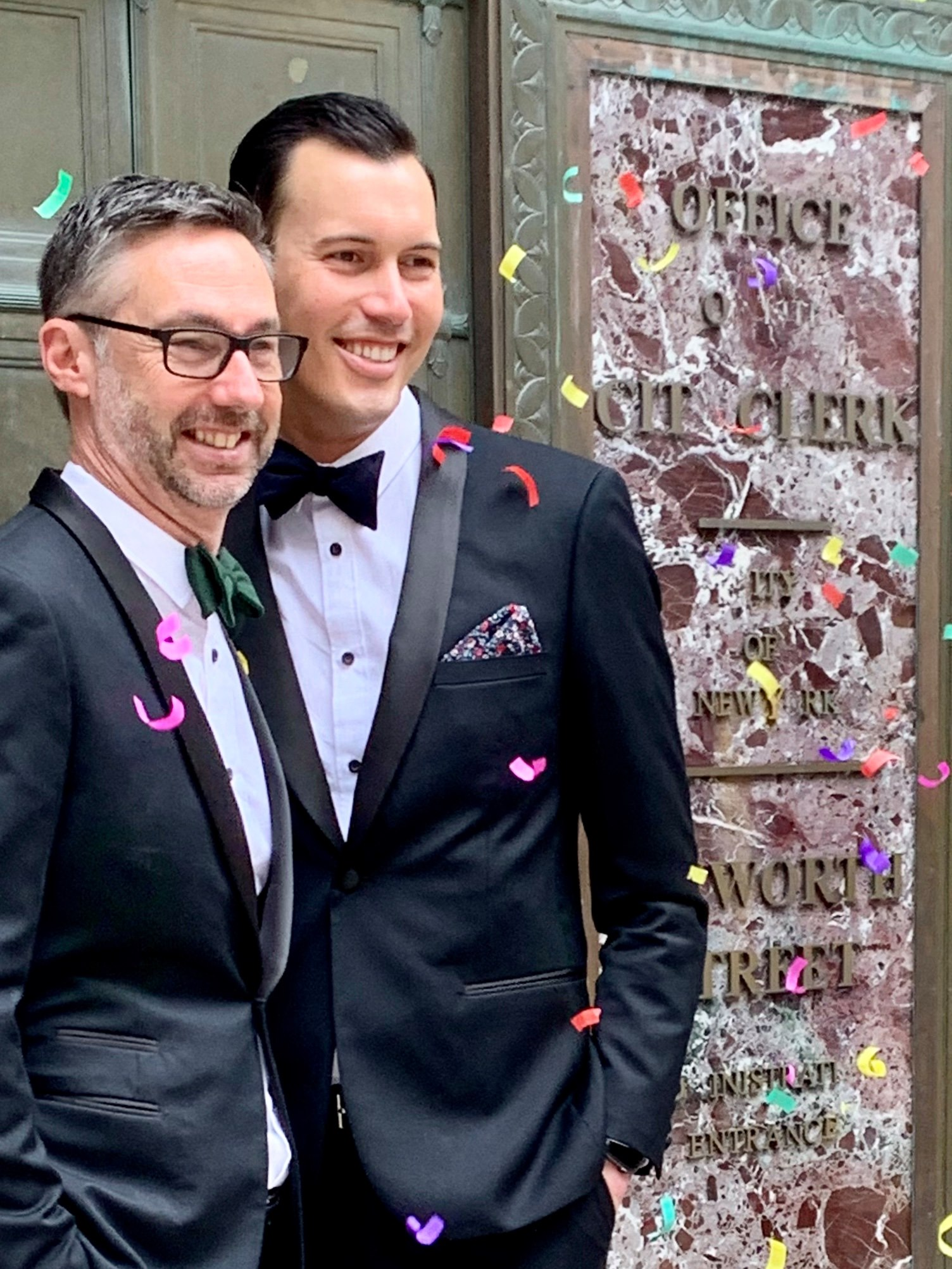 Just married! Congratulations to the newlyweds who tied the knot in New York l...