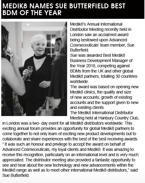 Love seeing our fabulous Sue Butterfield, Medik8 BDM of the Year,  featured in t...