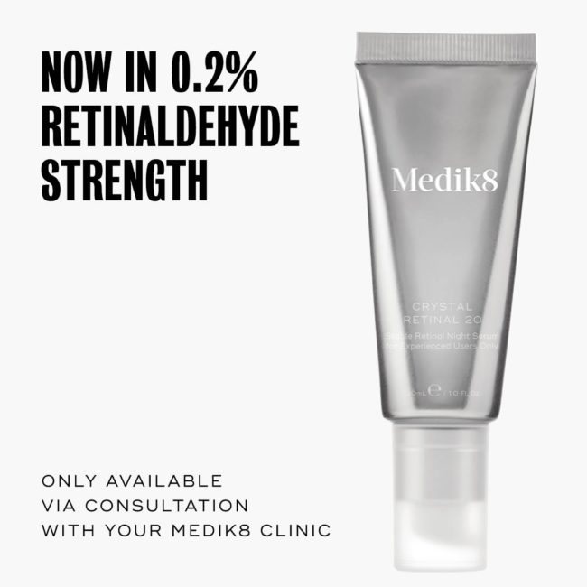 Medik8's latest launch, CRYSTAL RETINAL 20, is the latest professional addi...