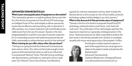 Our Managing Director, Catherine Biedermann talks to Professional Beauty Magazin...