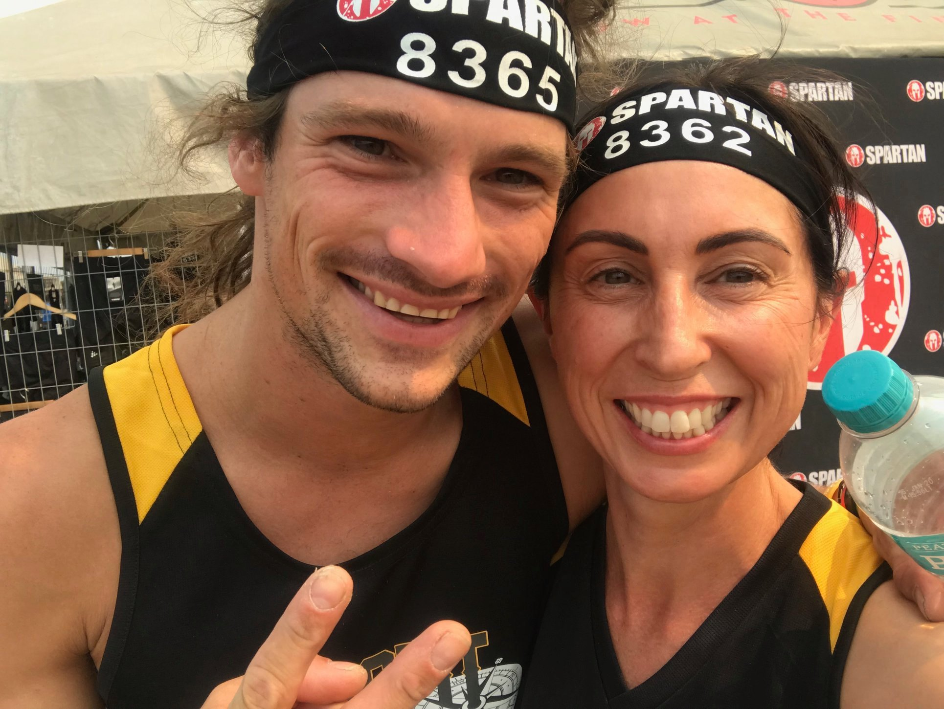 Our very own Kylie Turkkan with James Sayer who competed on Ninja Warriors las...