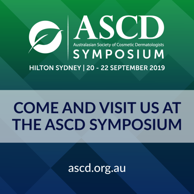 We'll be exhibiting at Australasian Society of Cosmetic Dermatologists - ASCD ...